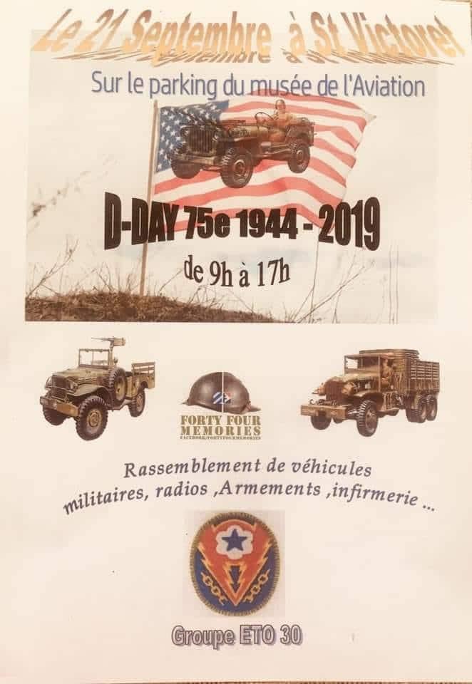Musée aviation Saint Victoret - Rassemblement de véhicules militaires